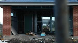 Door from garage to back yard
