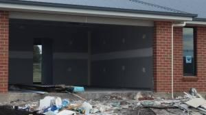 garage, still a door to fit