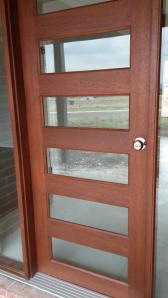 front door has been cleaned, no more stain marks on the glass