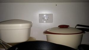 power point in cupboard
