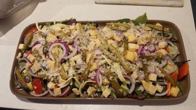 lchf salad platter