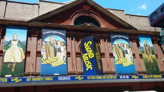 Outside the Capitol Theatre Sydney for The Sound of Music