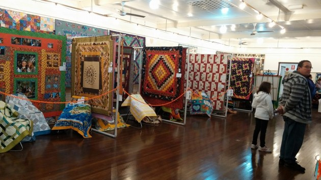 hanging quilts