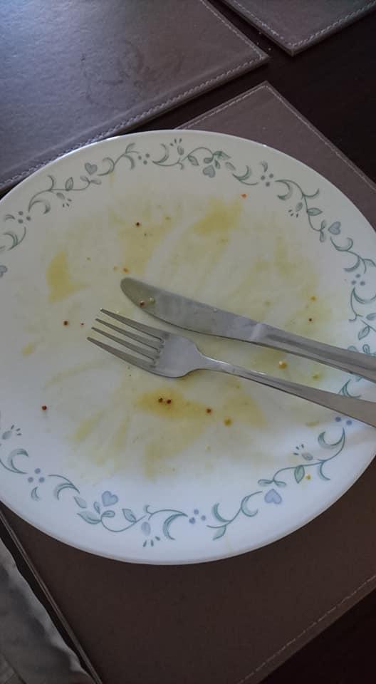 finished eating